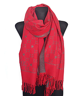 Теплый шарф Шелби 180*60 см красный