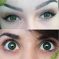 Магазин цветных линз для глаз. Низкие цены. Цветные линзы Украина, зеленые линзы