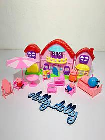 Игровой набор с героями Домик Свинки Пеппы YM 808-3