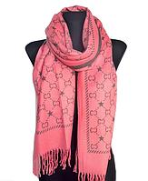 Теплый шарф Шелби 180*60 см коралловый