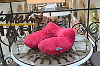 Дорожная Подушка надувная LSM для путешествий 31х31х14 бордовая (140-34)