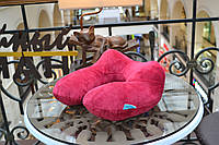 Подушка надувная LSM для путешествий 31х31х14 бордовая (140-34)