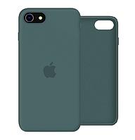 Чехол Silicone Case Full для iPhone SE2 /SE 2020 Pine green