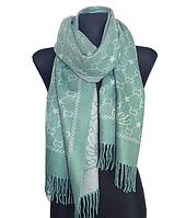 Теплый шарф Шелби 180*60 см мятный