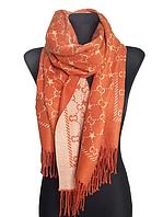 Теплый шарф Шелби 180*60 см терракотовый