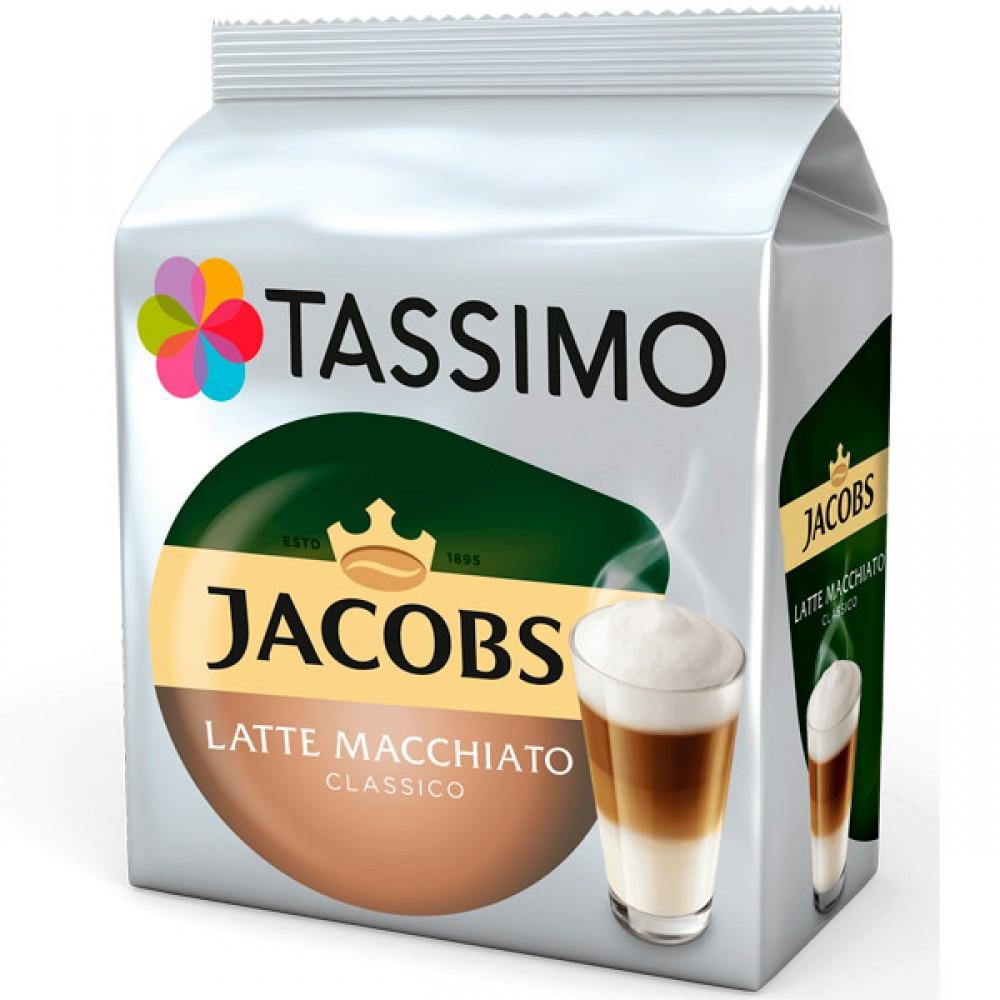 Кофе в капсулах Tassimo Jacobs Latte Macchiato Classico 16 капсул (8 порц.) Германия Тассимо
