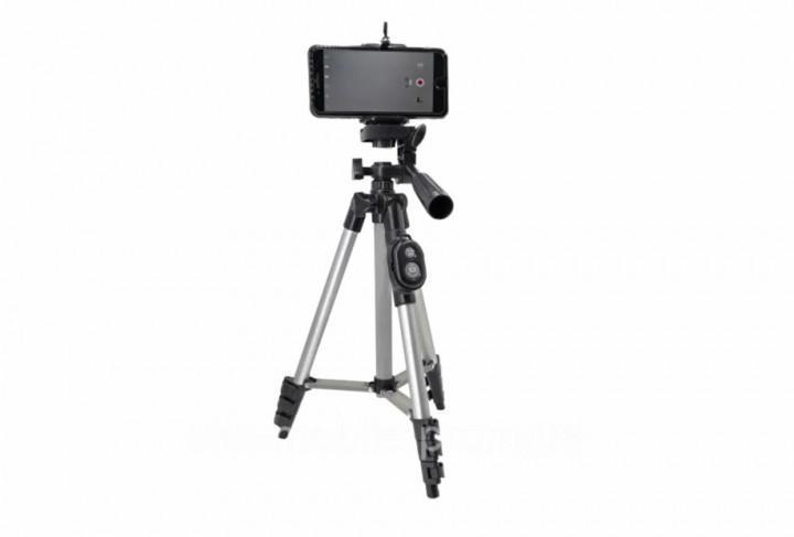 Штатив трипод с пультом ДУ Tripod DK-3888 для камеры и телефона Серый (500021)