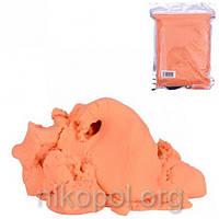 Кинетический песок 500 грамм оранжевый, в вакуумном пакете