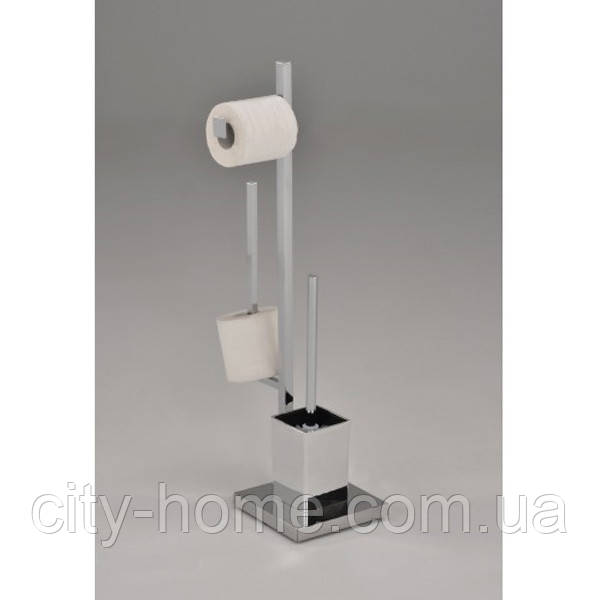 Стойка для туалета с держателем туалетной бумаги и ершиком