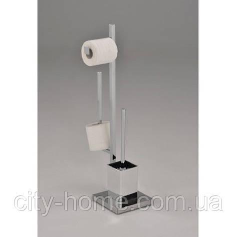 Стойка для туалета с держателем туалетной бумаги и ершиком, фото 2