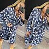 Женский теплый серый плюшевый домашний халат с лапами, фото 5