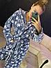Женский теплый серый плюшевый домашний халат с лапами, фото 6