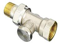 Клапан запорный RLV-S 15 для монтажа на обратной подводке отопительного прибора  Прямой, никель.