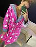 Женский плюшевый розовый домашний халат с хелло китти, фото 3