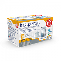Стерильные иголки INSUPEN для инсулиновых ручек, 31G*8мм(0,25*8мм) 100шт.