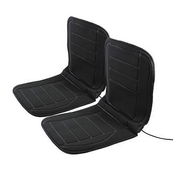 Накидка на сиденье автомобиля с подогревом Lesko TZ002 Black от прикуривателя 12 В