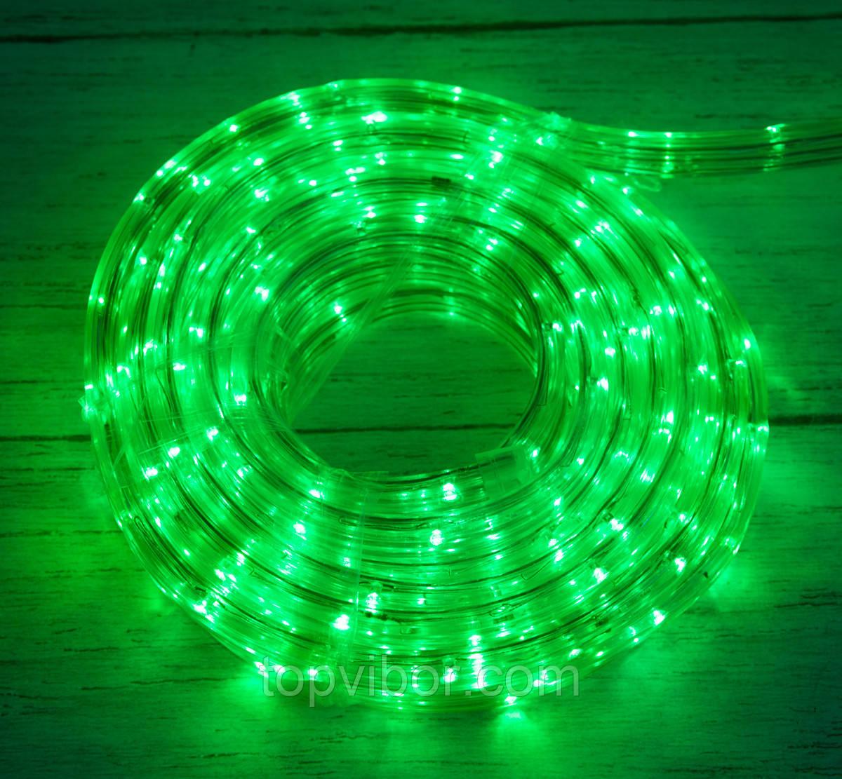 Распродажа! Уличная новогодняя дюралайт гирлянда на 8 метров Xmas Rope Light G Зеленая, светодиодная гирлянда