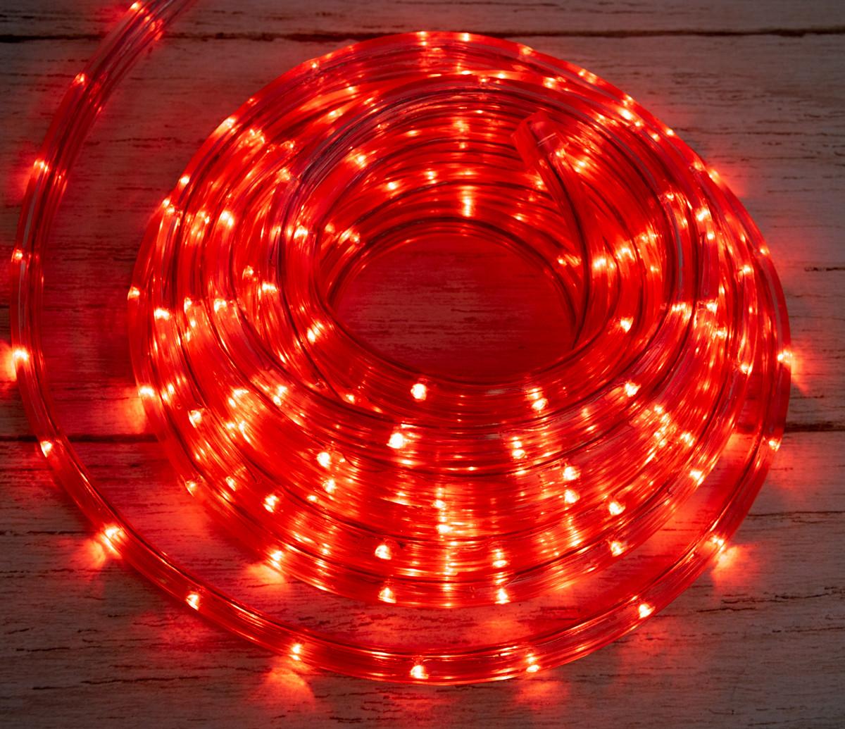 Розпродаж! Дюралайт гірлянда на вулицю Xmas Rope Light R Червона на 8 метрів, світлодіодна гірлянда з пультом