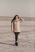 Жіноча куртка тканина:плащова тканина,синтепон-250, видовжена,з капюшоном(2хл-6хл)