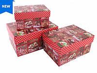 Новогодняя подарочная коробка Рождественская