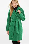 Пальто женское демисезонное букле зеленое MS-191(б), фото 2