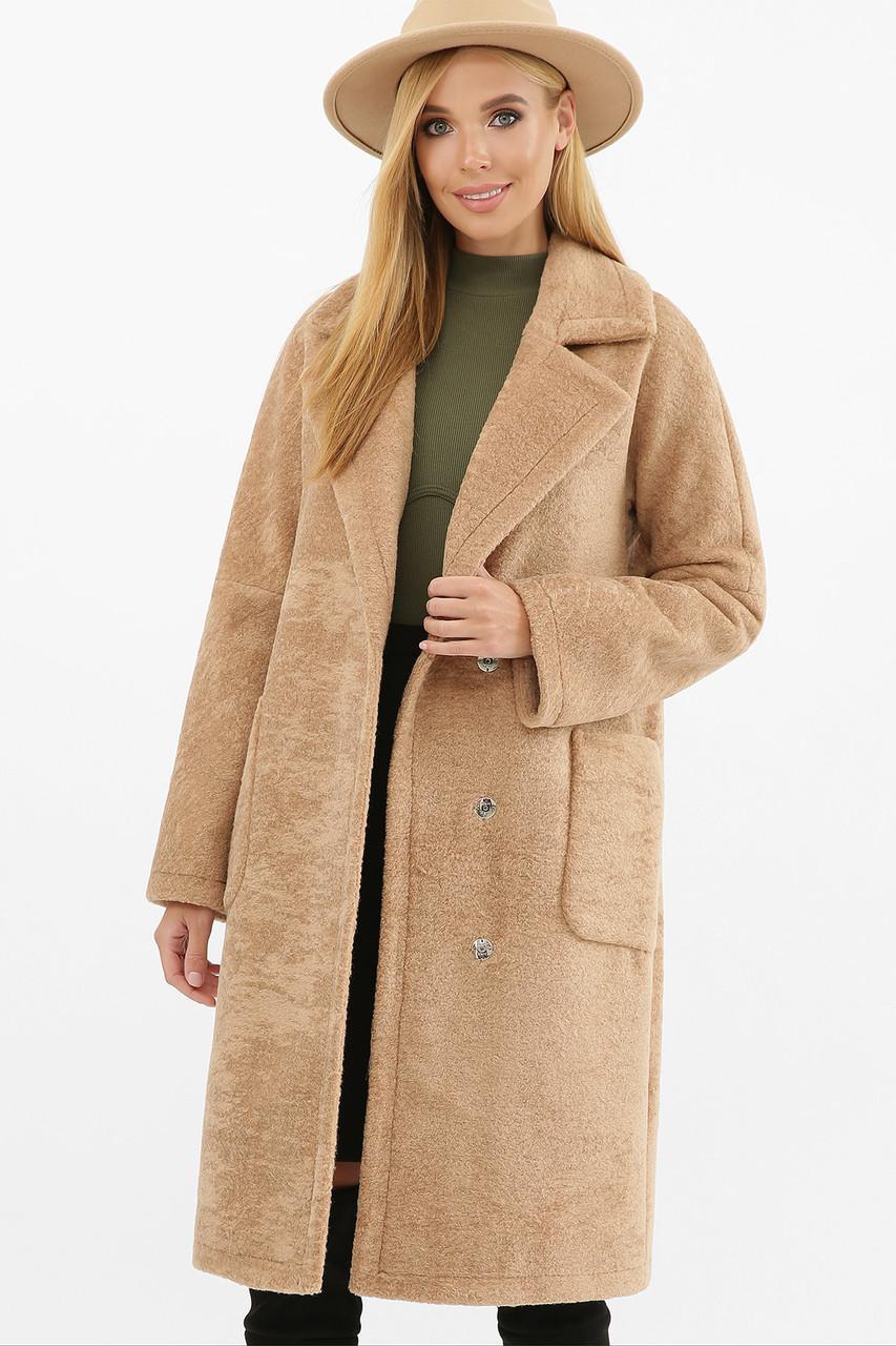 Зимнее женское пальто песочное MS-263 Z