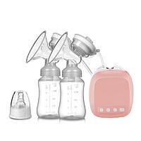 Двойной электрический двухфазный молокоотсос Baby Milk с двумя бутылочками и силиконовой соской