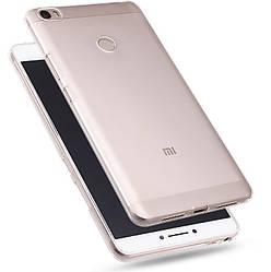 Прозрачный Чехол Xiaomi Mi Max (ультратонкий силиконовый) (Сяоми Ми Макс)