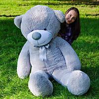Большой плюшевый медведь 180 см, мягкий мишка подарок для девушки на день рождения, серый