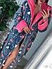 Крутой теплый халат с сердцами и капюшоном, фото 3