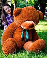 Большой плюшевый медведь 180 см, мягкий мишка подарок для девушки на день рождения, коричневый