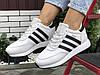 Теплі жіночі кросівки Adidas Iniki на хутрі білі зимові стилі Адідас
