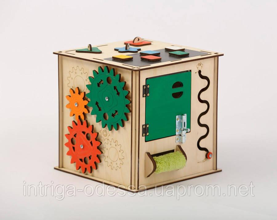 Развивающая игрушка Бизикуб | Игры на логику | Логические игры | Развивающие игрушки | Деревянные игрушки
