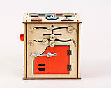 Развивающая игрушка Бизикуб | Игры на логику | Логические игры | Развивающие игрушки | Деревянные игрушки, фото 5