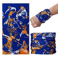 Бафф спортивный Olympic защитный синий, фото 1