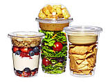 Стакан десертный с купольной крышкой PET 400мл, упаковка 50 шт., фото 3
