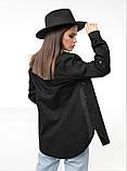 Женская стильная рубашка длинный рукав ткань коттон размер: 44, 46,48, фото 3
