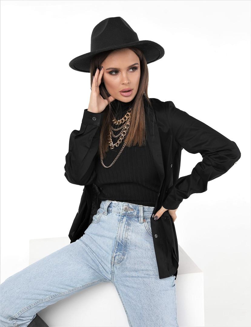Женская стильная рубашка длинный рукав ткань коттон размер: 44, 46,48