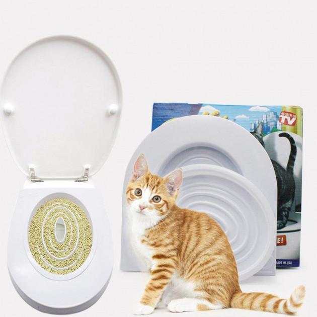 CitiKitty - набор для приучения кошки к унитазу. Лоток для кошек. Туалет для котов