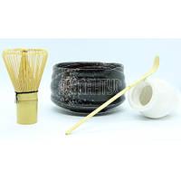 """Набор для матча """"ЧАБАКО"""" 4 предмета: венчик мешалочка 2 пиалы для японской чайной церемонии"""