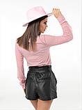 Женская стильная рубашка длинный рукав ткань софт+сетка рукав размер: 42, 44, 46,48, фото 2