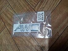 Надпись AWD   75х20 мм   металл