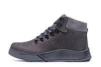Мужские зимние кожаные ботинки Yurgen  grey Style, фото 1