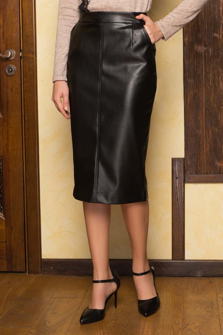 Женская юбка из эко кожи, в расцветках, р.S,М,L,XL