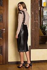 Женская юбка из эко кожи, в расцветках, р.S,М,L,XL, фото 2