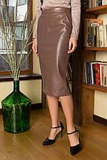 Женская юбка из эко кожи, в расцветках, р.S,М,L,XL, фото 3