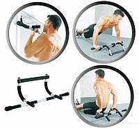 Тренажер Iron Gym (12 шт/ящ)металл, 2в1,турник для дверного проема, фомовые насадки подвесной турник
