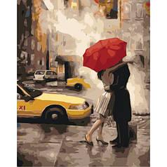 Картина по номерам раскраска по цифрам холст с контуром для взрослых 40х50см последний поцелуй