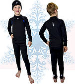 Термобелье детское спортивное для мальчика Rough Radical Edge, комплект с шапкой, черный 36 (128-136)