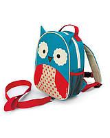 Детский рюкзак с поводком Skip Hop Zoo Сова. Оригинал
